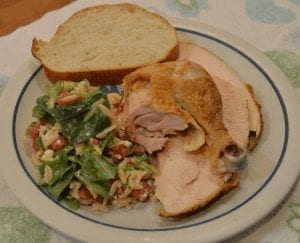 Baked Chicken with Orzo Tomato Salad