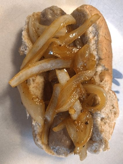 at mimi's table brats & onions 1 quick dinner
