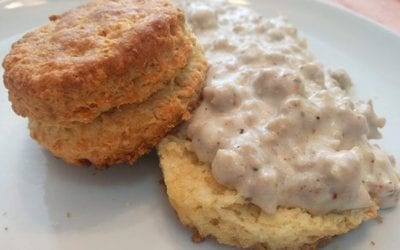 Buttery Buttermilk Biscuits and Creamy Sausage Gravy